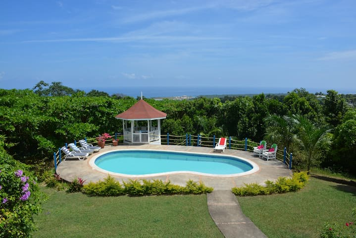 Beautiful Panoramic Caribbean Sea Views with Pool - St. Ann's Bay - Apartment
