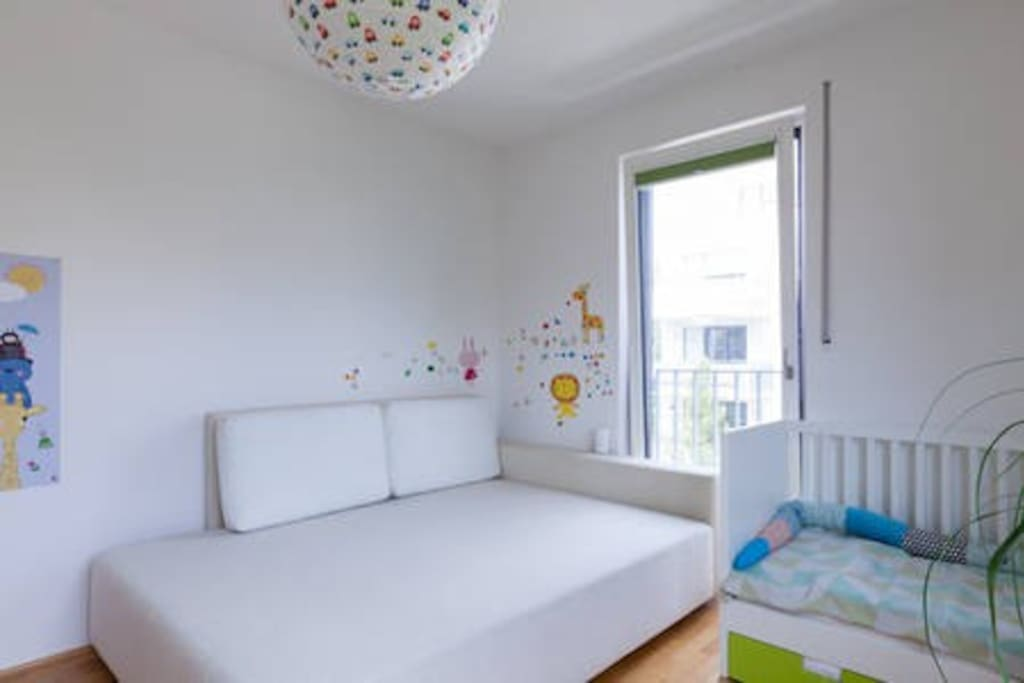Your double bed in our kid´s room
