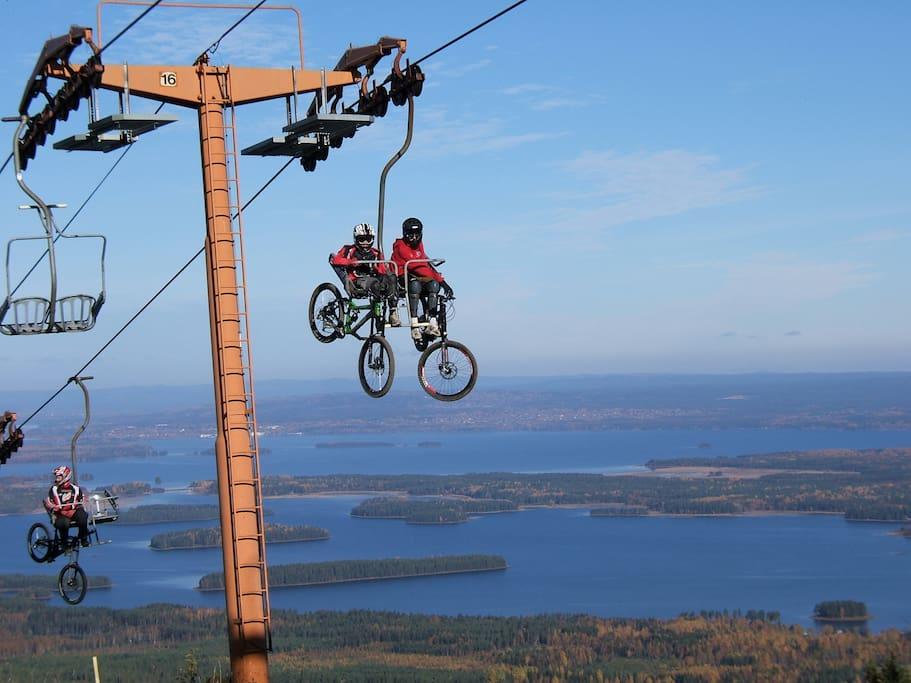 Mountainbike Gesundaberget.