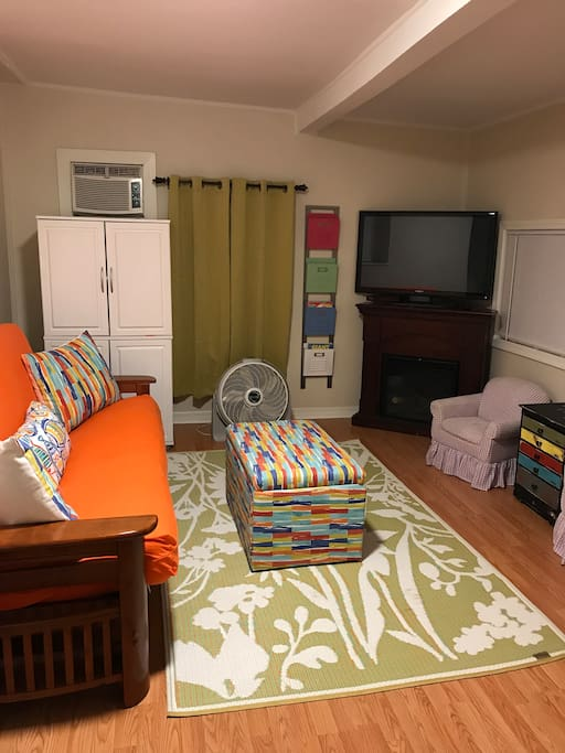 Den / Kids Game Room, with Full Futon Sleeper and private Bathroom / Laundry Room
