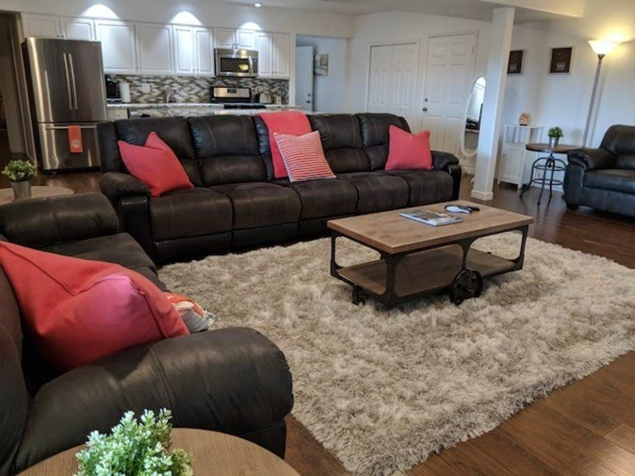 """Private Living Room with 75"""" HD TV with Direct TV and Netflix"""