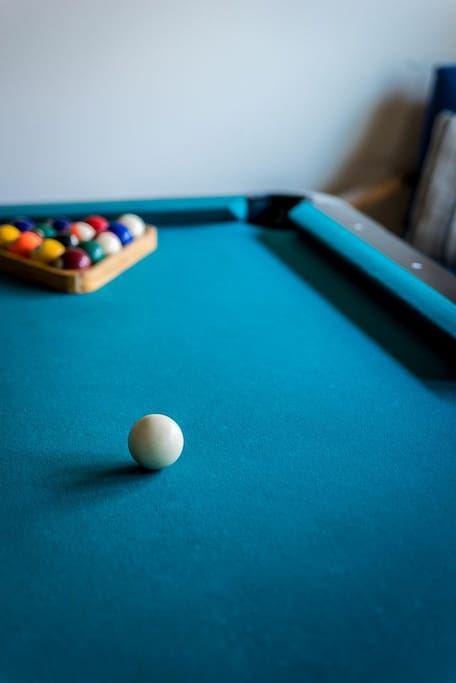 Enjoy billiards, watch television or enjoy a snack in the game room for your exclusive use.