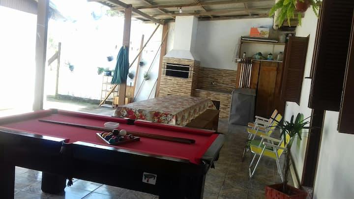 Imbe/Balneário Nordeste, Casa 2 dorm, 10' do mar.