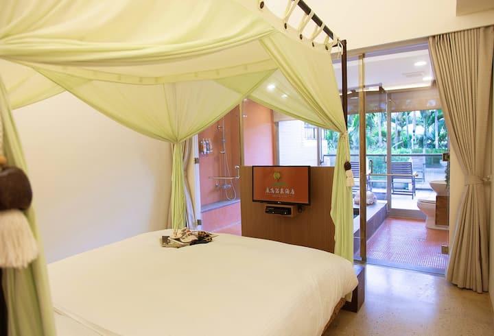 每天可欣賞熱氣球飛行的溫泉客房 / HS-2鹿情蜜月雙人客房(含早餐)