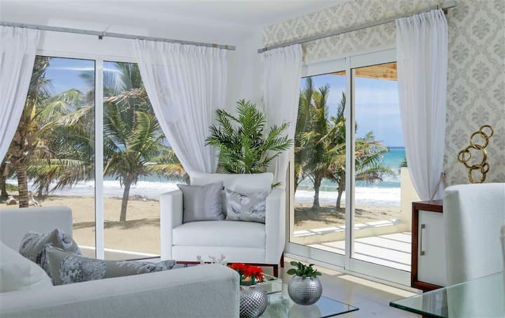 0057 Oceanfront 2 bedrooms condo in Cabarete.