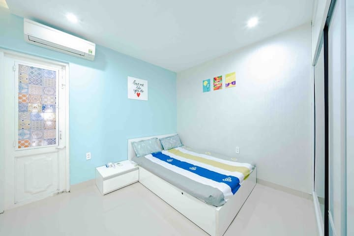 The Bedroom 1 is designed with one window and equipped by King size bed, large closet, air-conditioner,  bathroom inside, hot water machine, hair dryer.