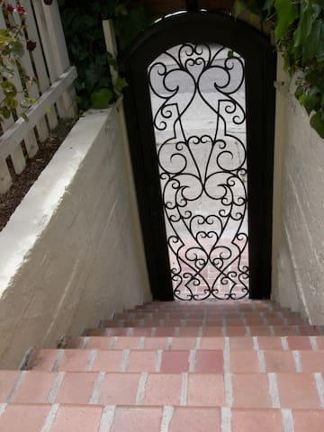 Private secure  front gate