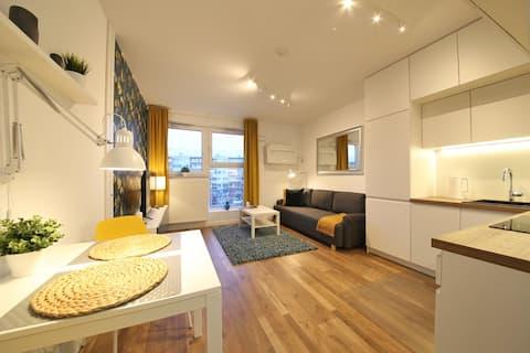 Cichy i przytulny apartament z klimatyzacją
