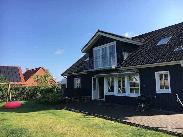 Big wooden house close to Silkeborg and Aarhus