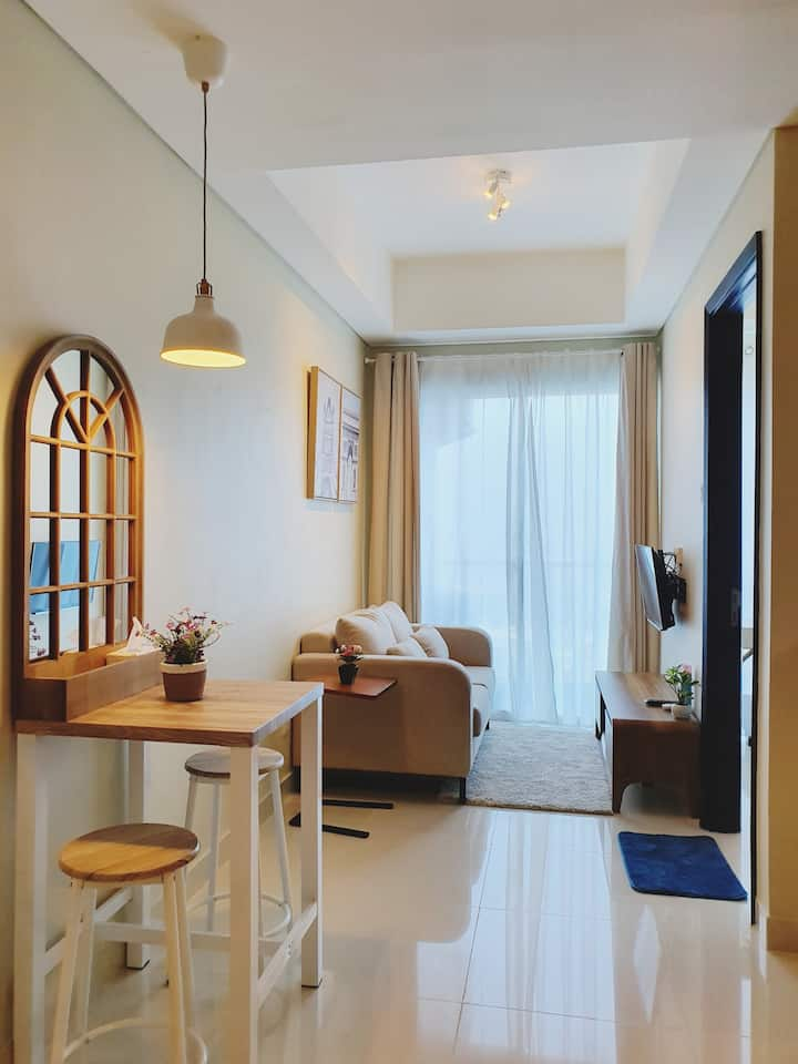 New 37m/sq, 1 bed, 1 bath at Apart Puri Mansion