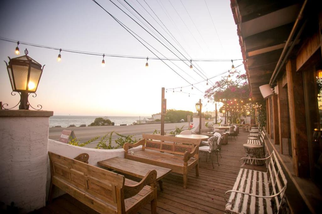 Beach Club Access: View from Outdoor Patio Right on PCH with Tunnel Under for Direct Beach Fun!