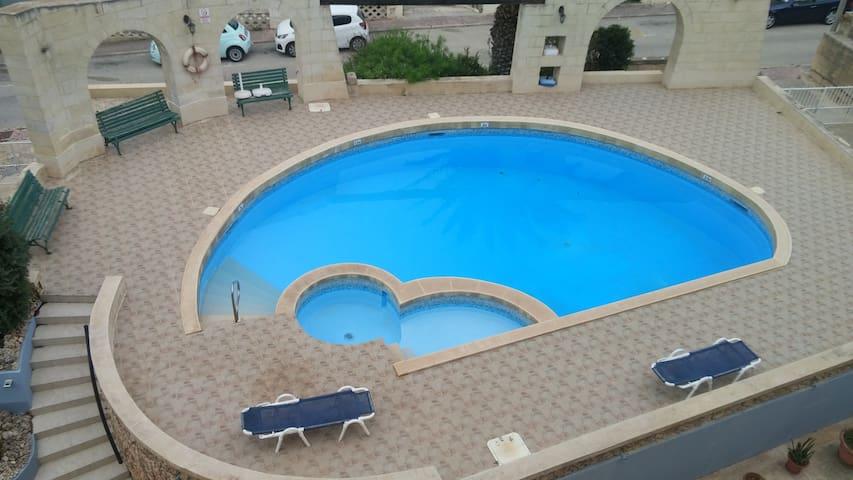 Seaview and big swimming pool near to sea-beach