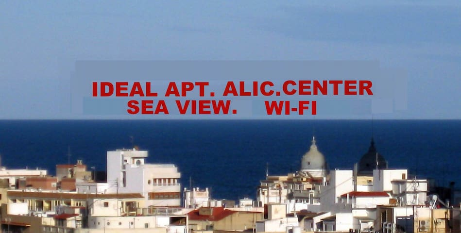 APT. IDEAL ALIC. CENTER. SEA VIEW.