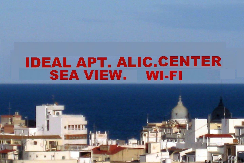 APT. IDEAL ALIC. CENTER. SEA VIEW.