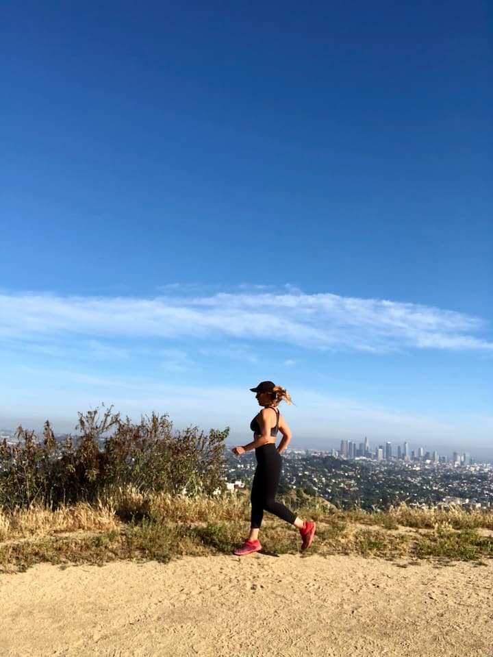 Griffith Park run with views of DTLA