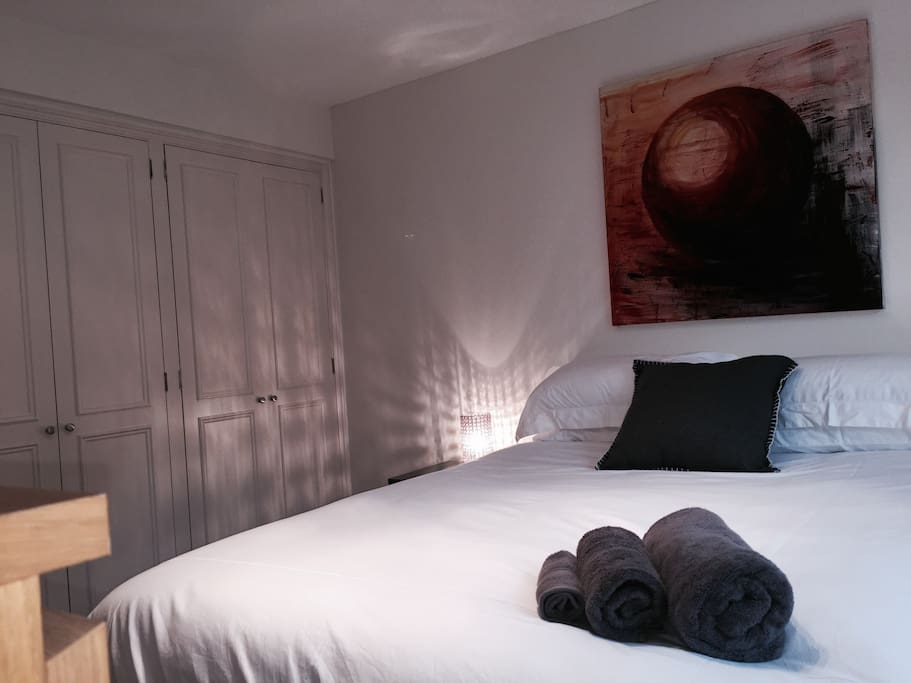 Good size double room with fitted wardrobes