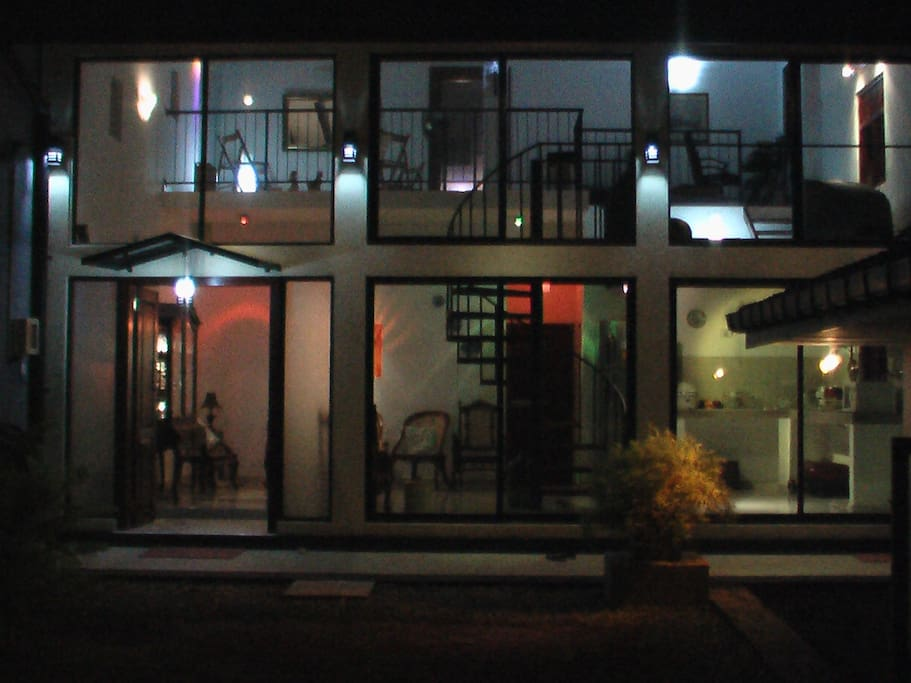 Night time front view