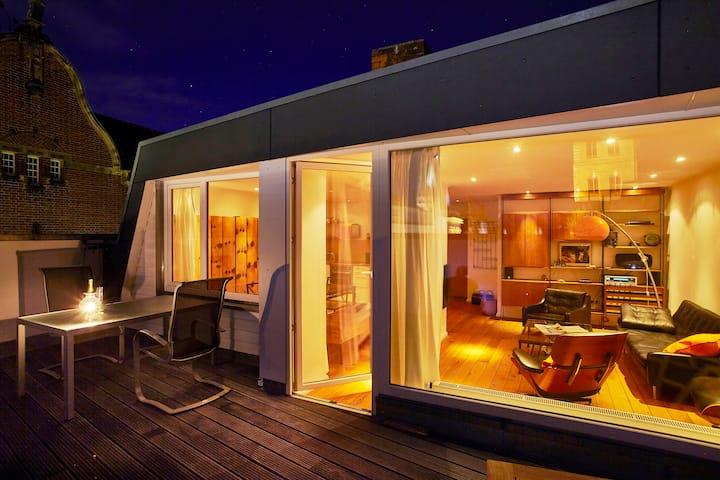 Penthouse mit Terrasse und Blick