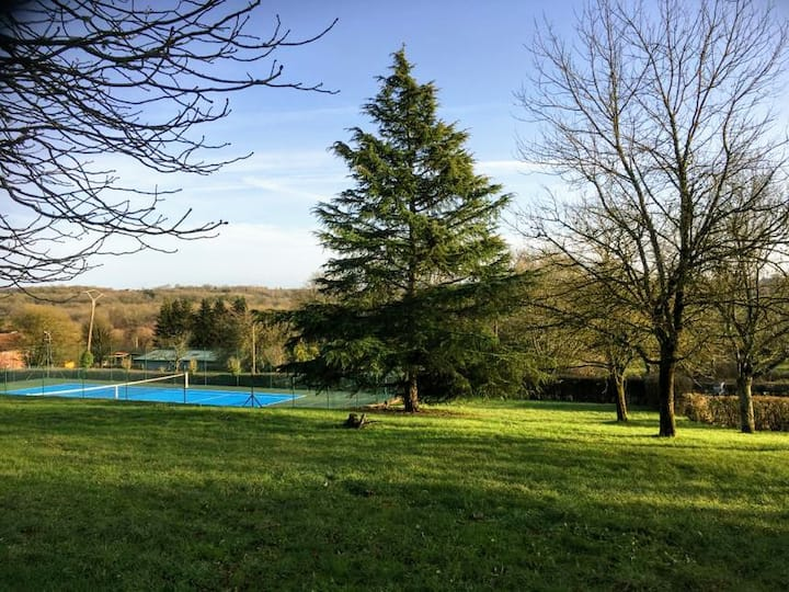 House with huge park and tennis court near Vézelay