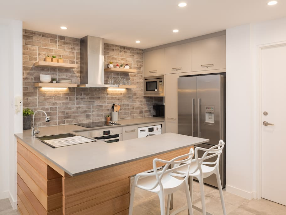 Industrial style kitchen with Bosch appliances