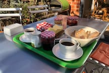 Breakfast is served! (daily, and included in the price). Includes home-baked, sustainable sourdough.