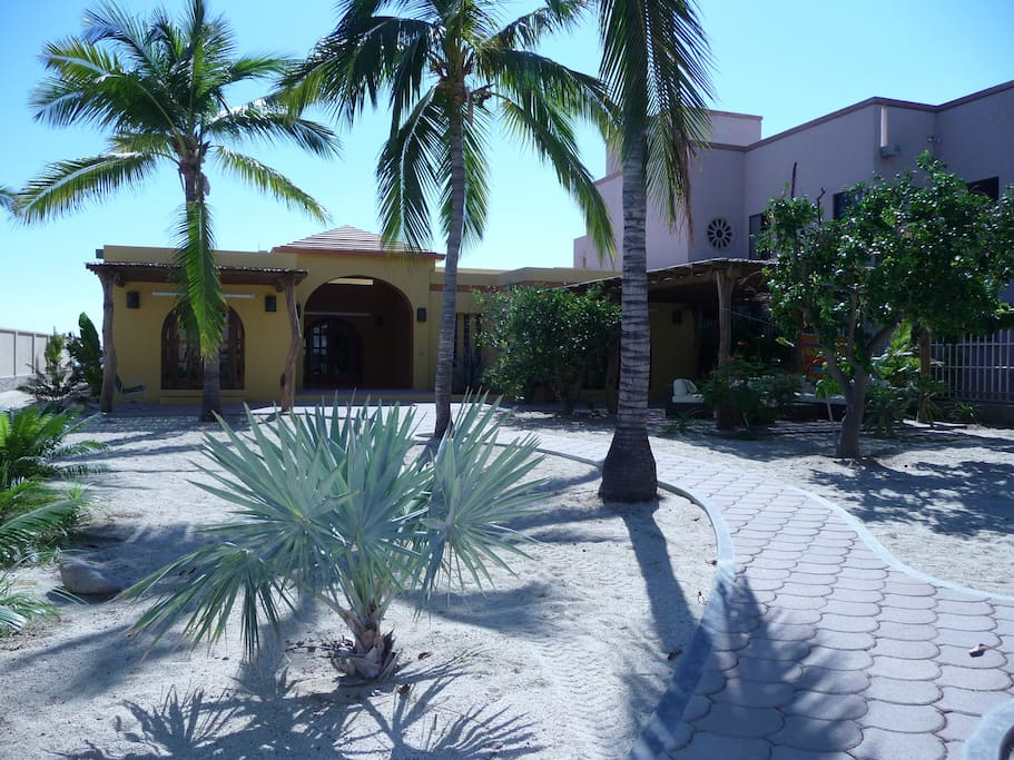 From the moment you enter, you will be welcomed to this peaceful property that is perfectly located on the beach in downtown Los Barriles.