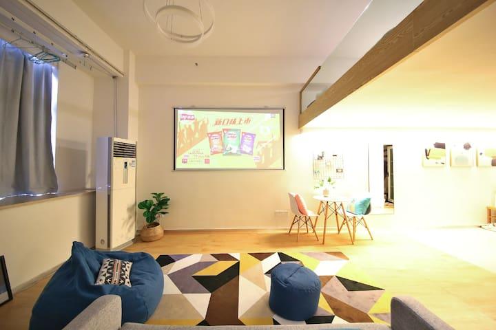 客厅、超赞的大屏投影仪