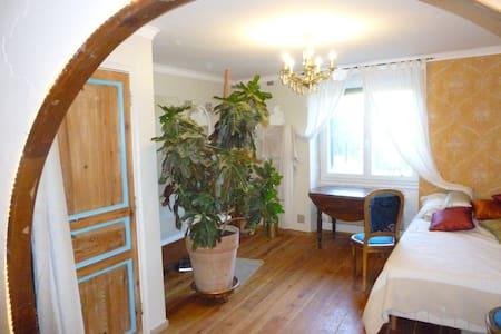 Grande chambre avec SDB ds jolie maison de village - Carnoules
