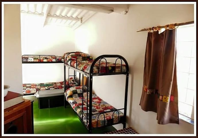 We have eight double bunk beds to choose from. With eight in a shared area.