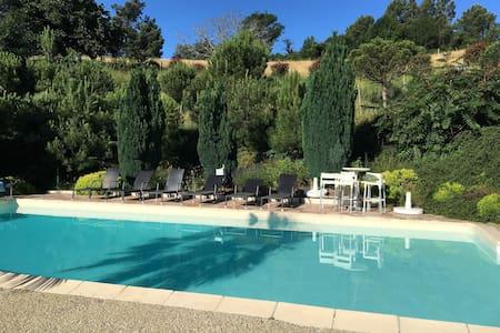 Maison de charme, piscine privée,10 chambres,calme - La Voulte-sur-Rhône - Casa