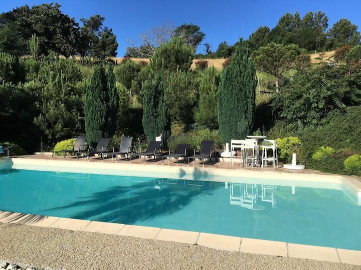 Maison de charme, piscine privée,10 chambres,calme