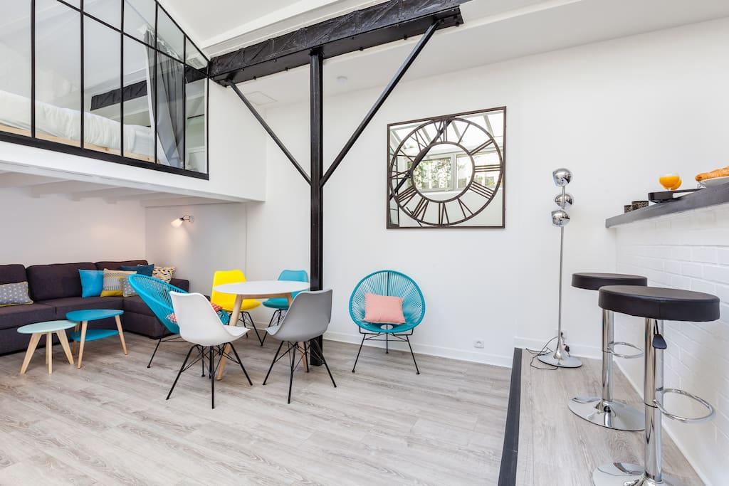 Atelier d 39 artiste r nov le marais paris centre lofts - Atelier du marais agencement ...