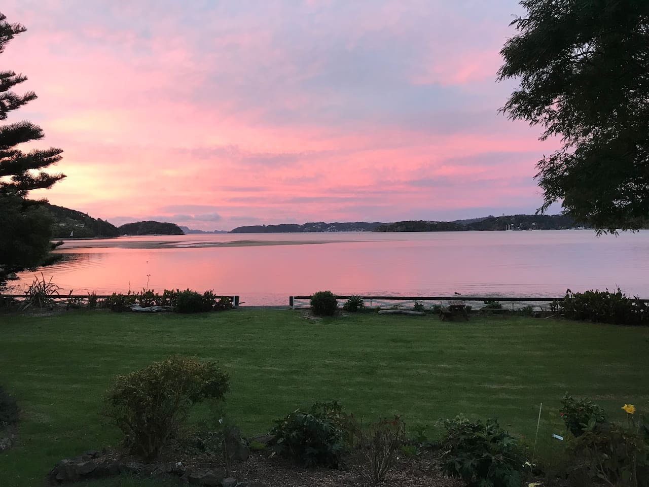 View from the front deck at sunset