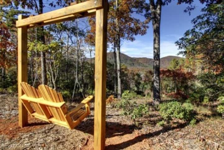 This beautiful log cabin rental is one you`ll never want to leave!