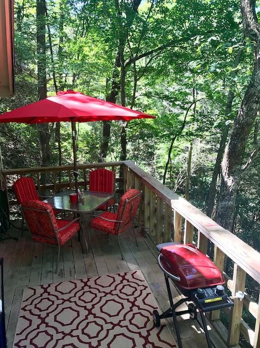 Outdoor deck and dinning with gas grill!
