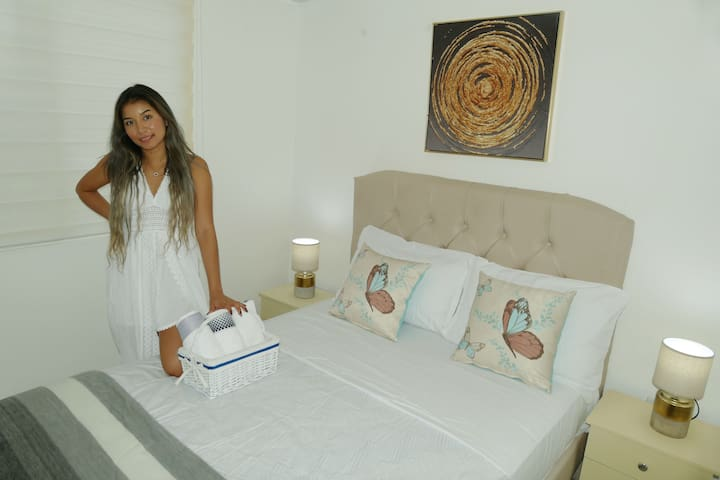 We provide you with kit sheets, pillows, towels and blankets in your reservation.