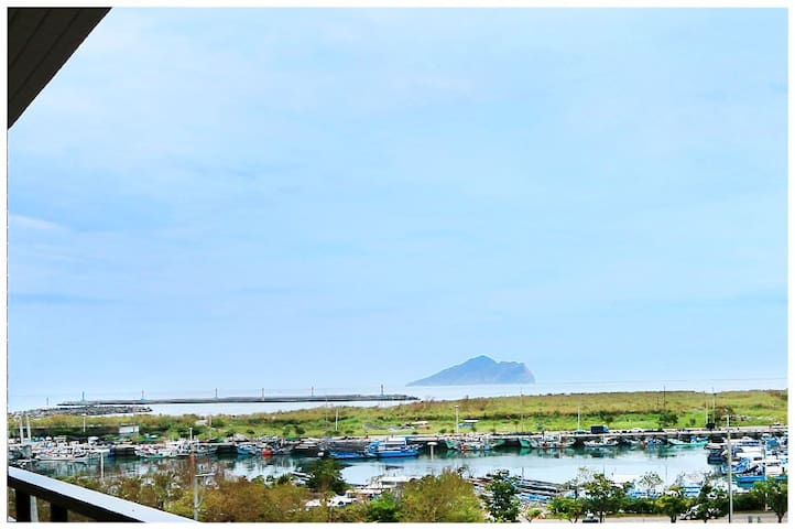 蘭海陽光海岸,近烏石港及蘭陽博物館,可以看到海港及太平洋龜山島,可包棟 - Toucheng Township - Dom