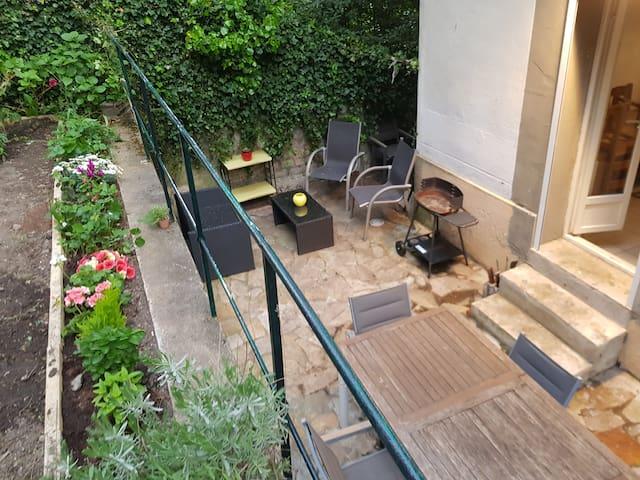 50m2 Terrasse &Jardin/Wifi/equipé/nature/ville