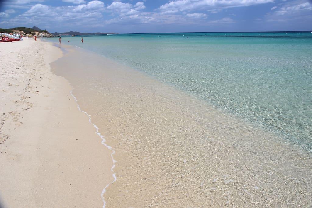 spiaggia 1 minuto a piedi