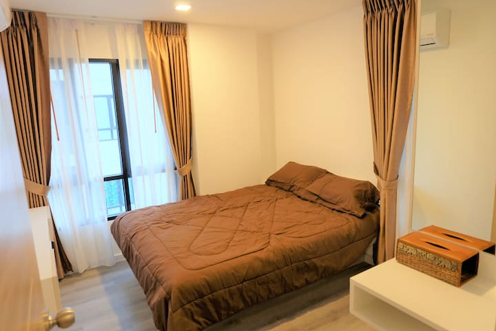 CLEAN & COZY 5mins to BTS Samrong - Tambon Thepharak - Apartment