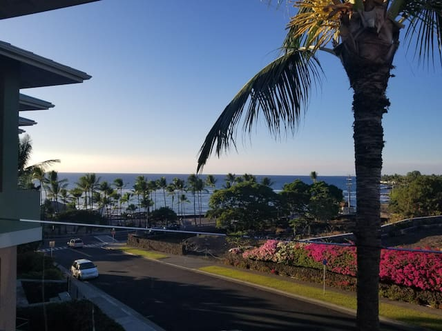 Ocean view Penthouse condo at Kahaluu Beach Villas