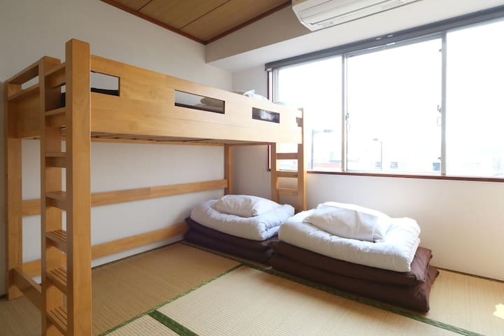 Triple Tatami room for LCC users (with bathroom)