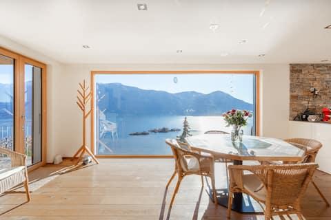 Vista única al lago Maggiore, terraza de 360°