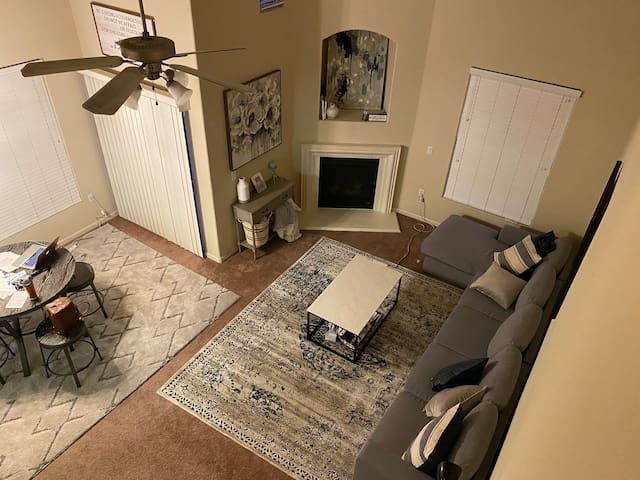 Homey and cozy-quiet and peaceful;close to Airport