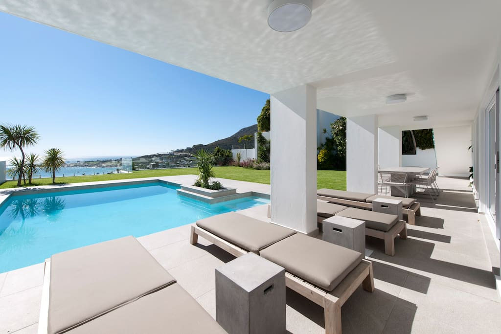 Fantastic garden and pool area for soaking up the sun