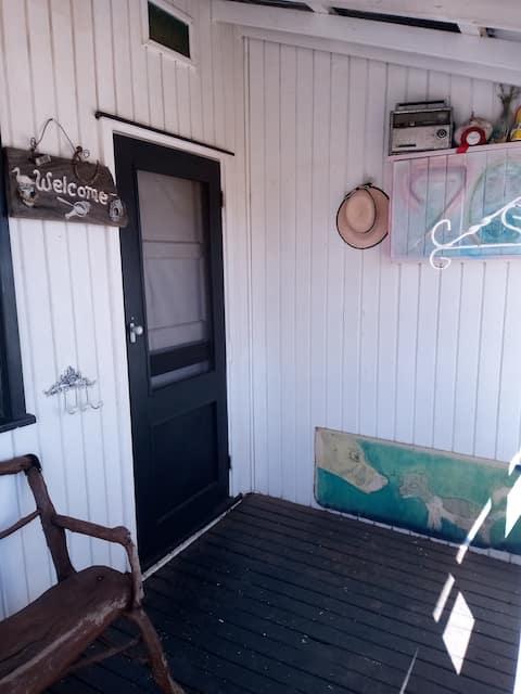 Old Australian bush Railway cottage.