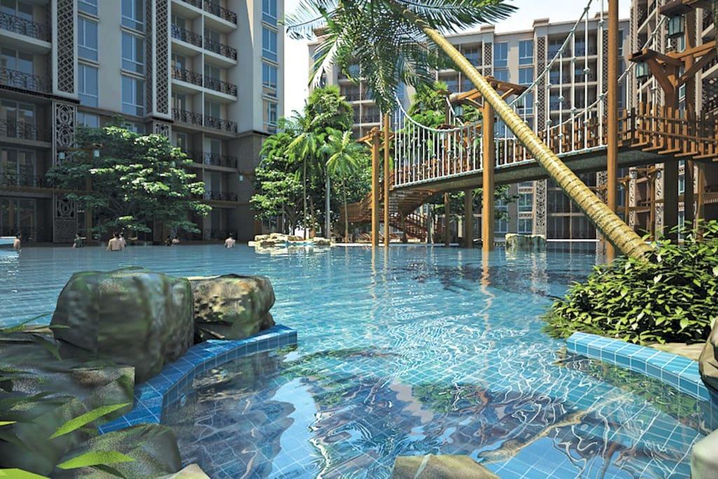 Decorative swimming pools
