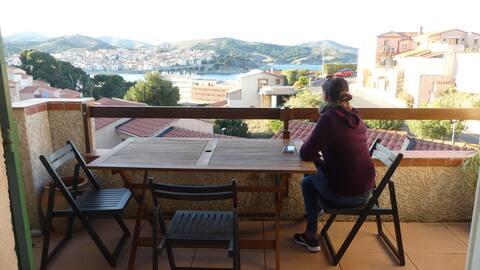 Maison T3 à Banyuls sur mer avec vue mer/montagne