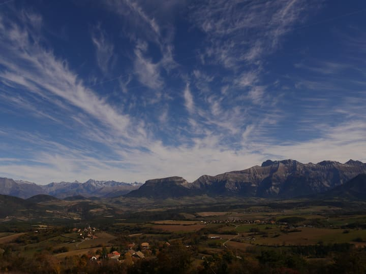 Vercors Trièves quiet studio splendid view