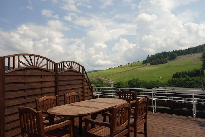 Beautiful apartment in Willingen in the Sauerland with two terraces